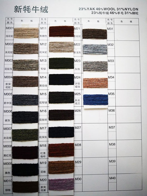 Wholesale good quality 23% yak 46% wool 31% nylon wool cotton yarn cheap