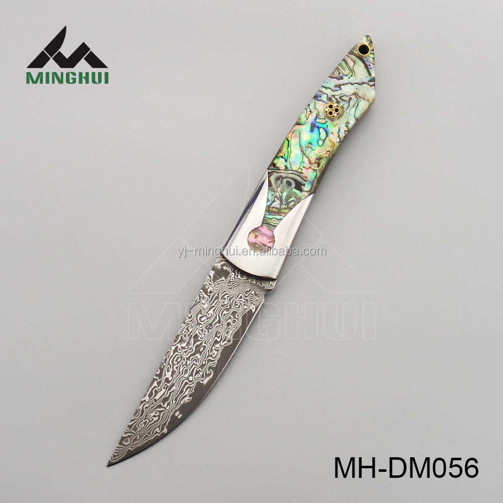 Colorful damascus knife small quantity available