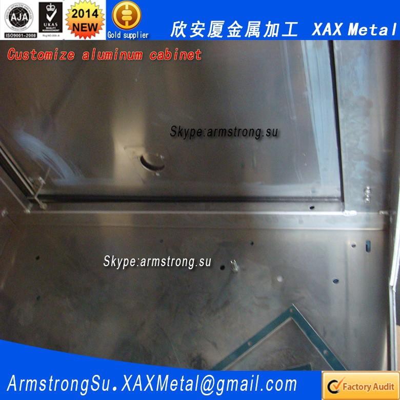 Xax824alu oem odm aangepaste aluminium hmi touch panel kast elektronische behuizingen - Aangepaste kast ...
