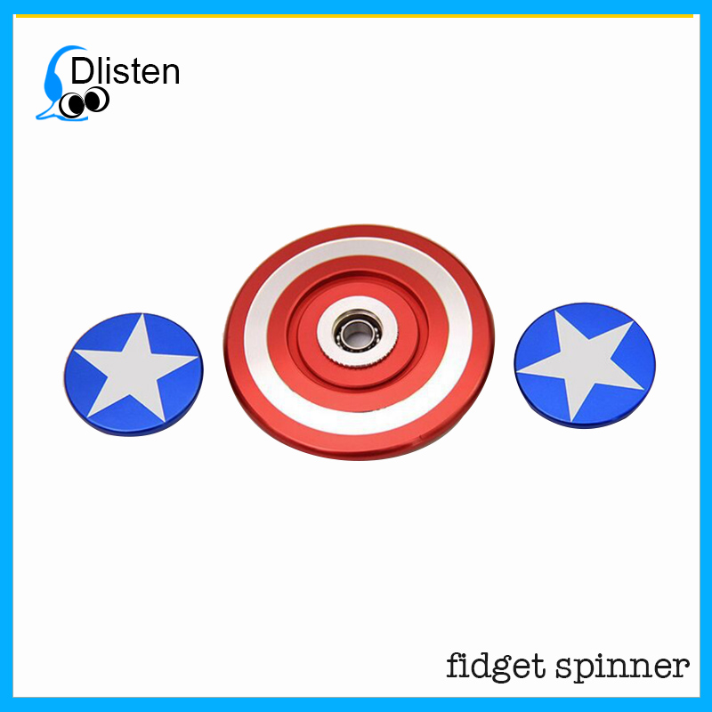 New Style Captain America's Shield Fidget Spinner,Superman Series Fidget Toys Spinner