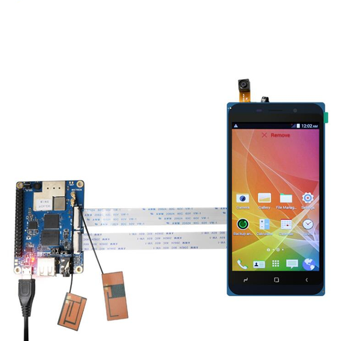 Hot selling Orange Pi 3G-IOT 4.98inch Black color TFT LCD Touch Screen