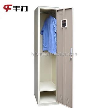 Single Door Metal Diy Portable Closet Wardrobe For