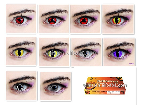Schwarzer Butler Cosplay Holloween Cosplay sharingan Naruto Crazy Contact Lens