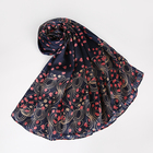 Promotional Turkish Fancy Print Silk Hijab Scarves Smooth Long Silk Scarf Women