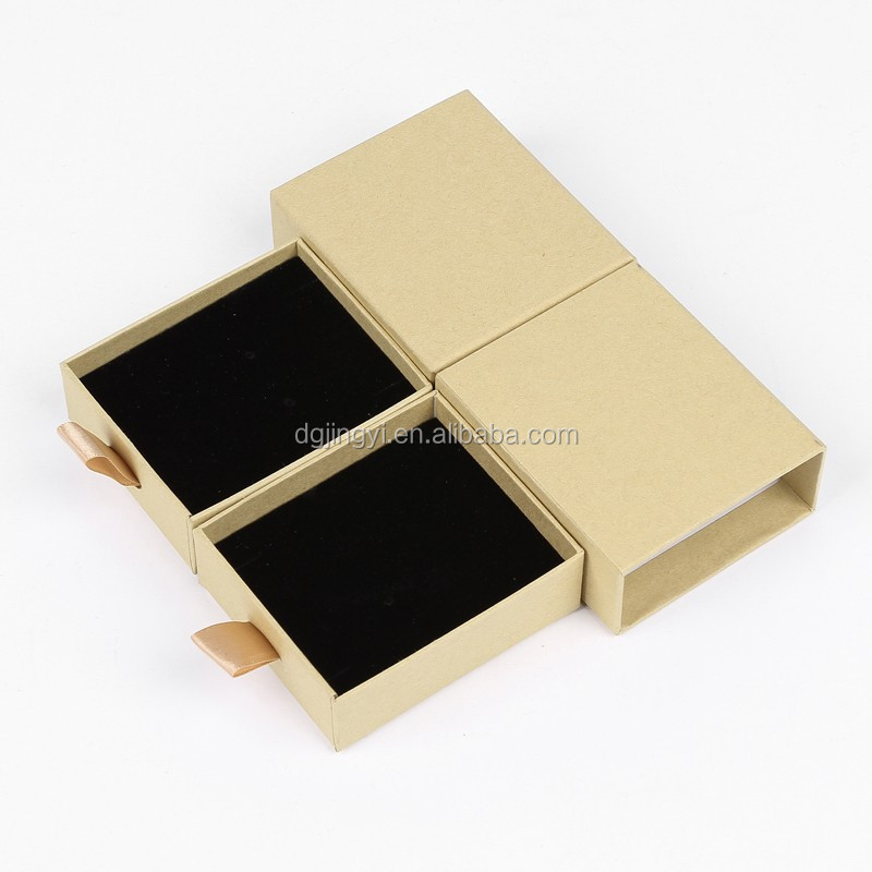 Small custom brown kraft paper soap gift packaging box