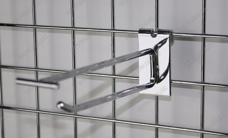 Metal chrome gridwall display price tag hook