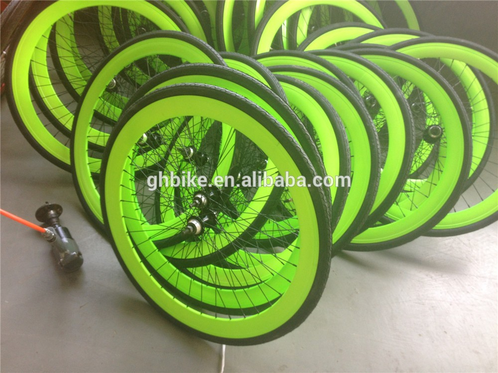 fixie bike wheel set fixie wheels glow in dark