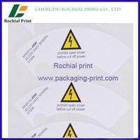Best quality custom plastic film sticker printing