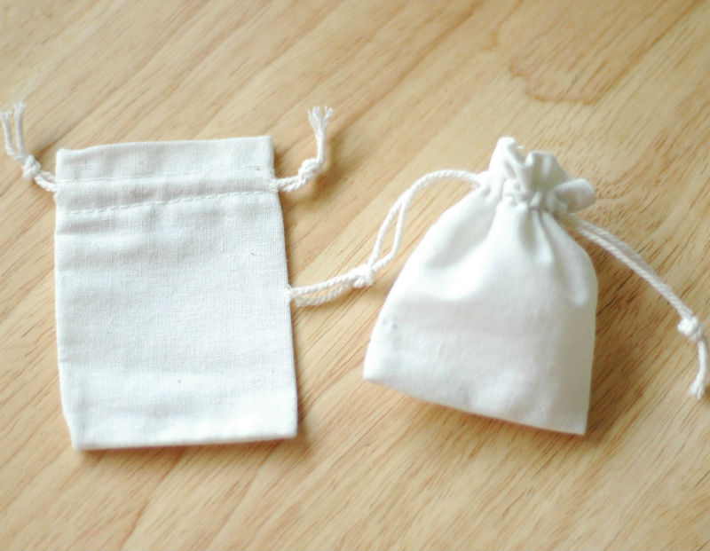 Cheap Plain Small Canvas Drawstring Bags Canvas Drawstring Gift ...