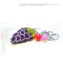 Creative cartoon and grape keychain waist hanging pendant jewelry bag ornaments for car