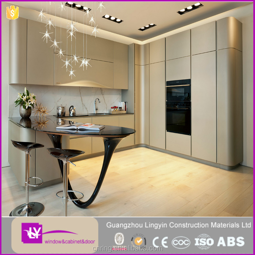 15 years manufacturer experience Factory direct sale lacquer kitchen cabinets with High quality kitchen appliance