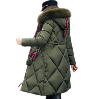 2019 Fashion Women Winter Coat Long Slim Thicken Warm Jacket Down Cotton Padded Jacket Outwear Parkas