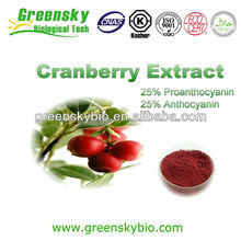 100% Natural 25% Anthocyanidins cranberry extract powder cranberry extract cranberry juice extract