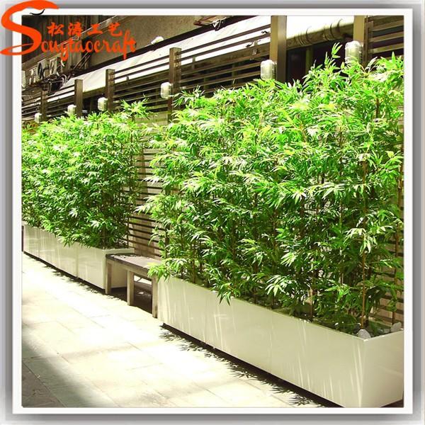 Faux vert chinois pas cher en plastique bambou p les for Plante bambou exterieur