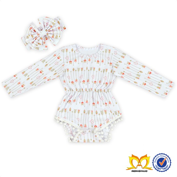 Long Sleeve Printing Style Baby Rompers Product Type