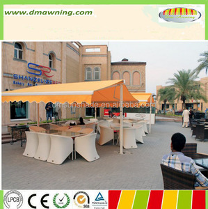 Aluminum retractable double side awning