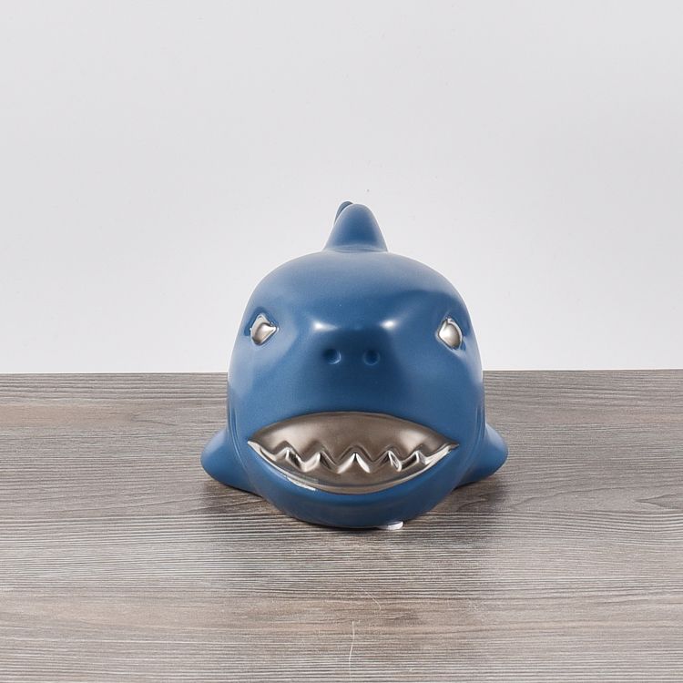 Wholesale cheap price matte white indoor decorative ceramic dolphin ornament show pieces for home decoration
