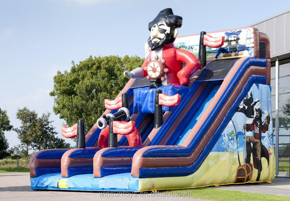 Large Outdoor Playground Inflatable Pirate Slide for Sale