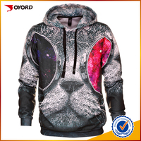 Best quality OEM/ODM digital sublimation full printed 100%polyester man hoody with custom logo