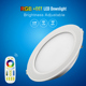 Mi.light RGB+warm white and cold white Brightness and CCT dimmable downlight 12v 1100lm downlight led