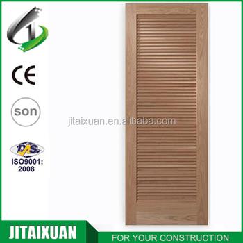 Cheap Price Solid Wood Flush Door Design Toilet Door Louver Door