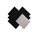 Low MOQ eco-friendly microfiber pure colour optical glass cleaning cloth