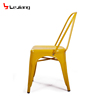 Free sample Leg Side Bulk Latest Model Beige Pu Metal Dining Chair With Line