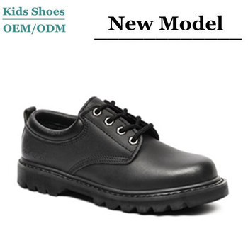 Students Microfiber Leather School Shoes Fit Kids Durable Black