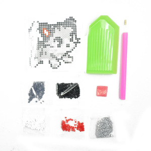 Wholesale 5D cute cat diamond painting kits for kids DIY diamond Sticker for scrapbooking