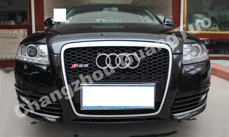 Black Without Logo Model Grille For Audi A6 C6 Rs6 - Buy Black ... on audi matte blue vinyl, audi s4, stanced audi s6 c6, audi a2, 2006 a6 c6, audi stretch and poke,