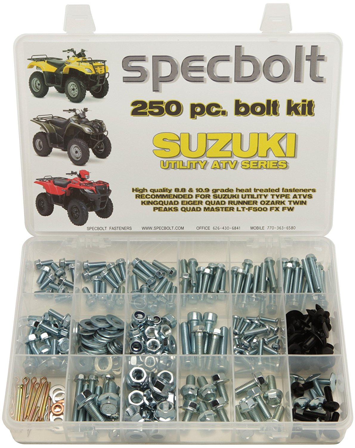 Get Quotations · Specbolt Fasteners 250pc Maintenance Restoration OE Spec  Motorcycle Bolt Kit for Suzuki Utility