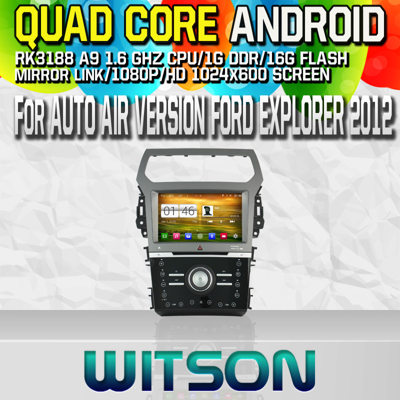 Witson S160 Android 4.4 Car DVD GPS For AUTO AIR VERSION FORD EXPLORER 2012 with Quad Core Rockchip 3188 1080P 16g ROM WiFi 3G
