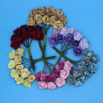 Small Paper Flower Bouquets For Notebook Decoration Buy Paper