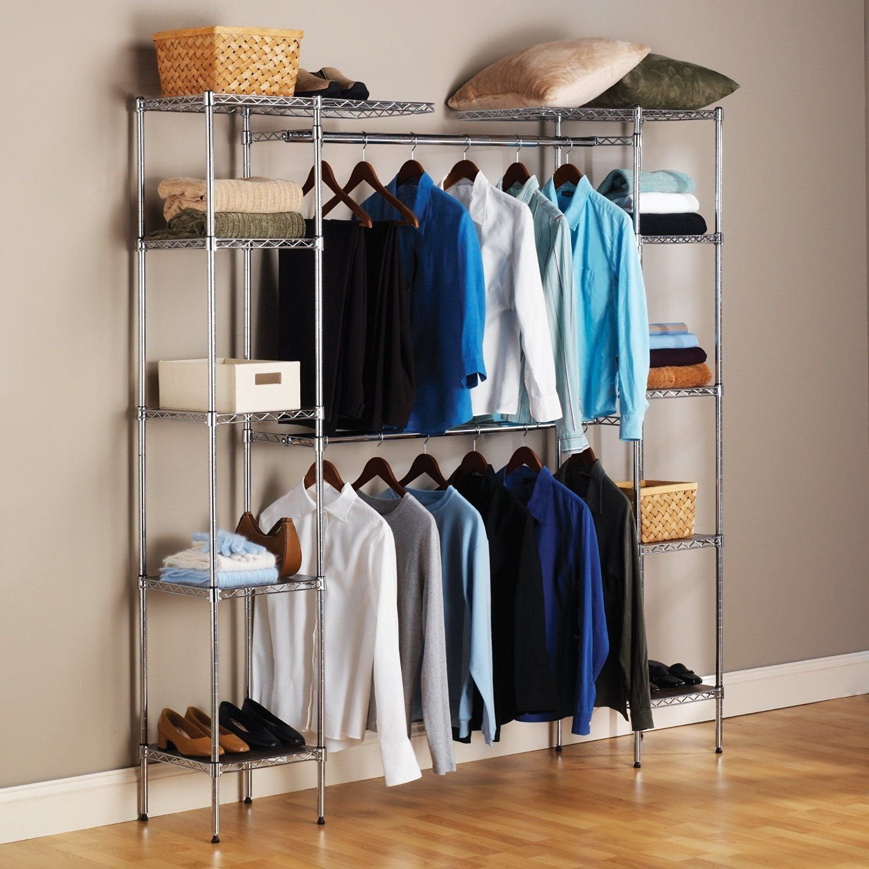 Generic YZ_733678YZ_7 Portable Rack Izer Po Storage Hanger Clothes Rage H  Rod Garment Cloth Closet Organizer