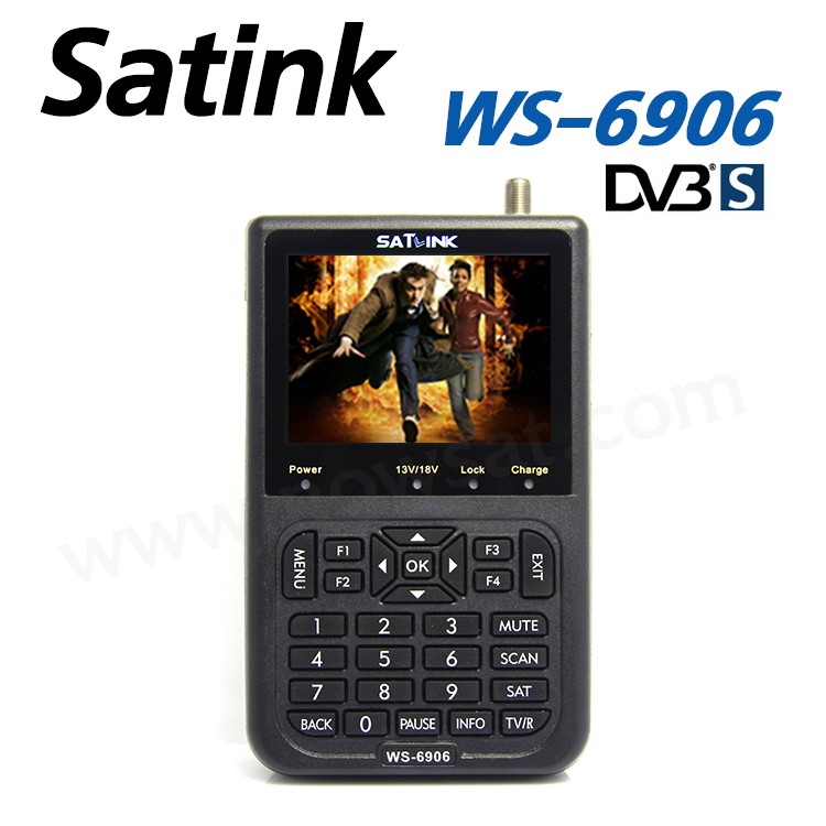 Satlink WS-6906 3.5inch DVB-S digital satellite finder meter ws 6906 satlink ws6906