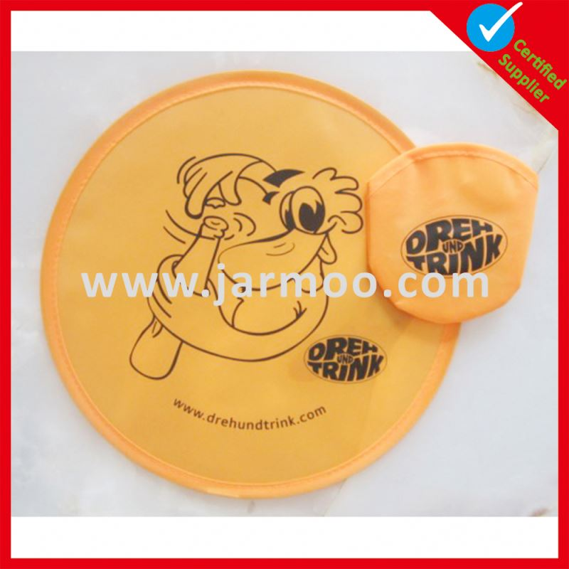 Lead-free cotton custom frisbee with hole