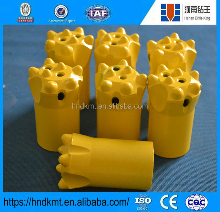 Quarry drilling tapered button bit and thread button drill bit 30mm-40mm