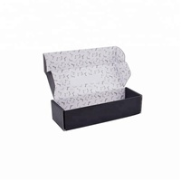 Oem Brand Elegant Black Color Shipping Rigid Corrugated Paper Mailing Box for Sock