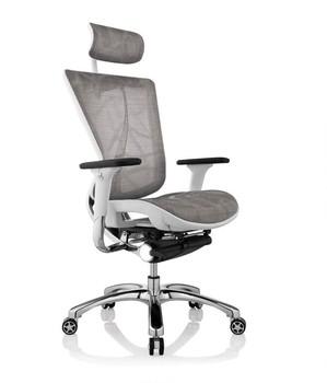 High Quality White Color Ergonomic Chair Executive Mesh Chair