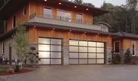 Auto Lightweight Panoramic Glazing Plexiglass Rolling Up Garage Doors