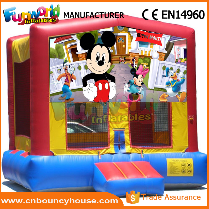 Inflatable bouncer castle jump house mickey mouse bounce house