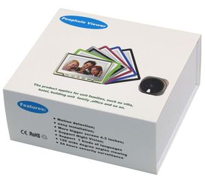 Spanish, english, french, German Russian language digital thin or thick door viewer