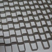 1.5 X12.7mm plate 304 Stainless Steel Honeycomb Mesh Belt / Flat Wire Conveyor Belt