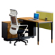 Long wooden office table 2 seat steel face to face office desk modern