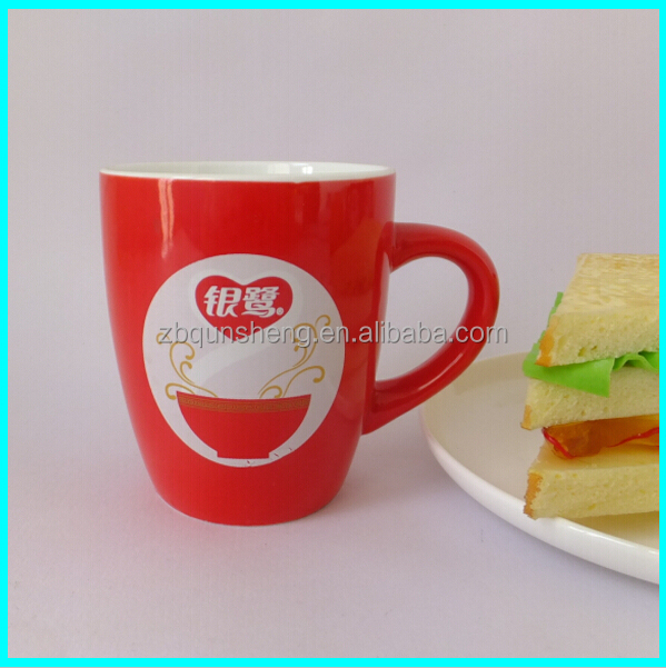 red ceramic mug wholesale with handle