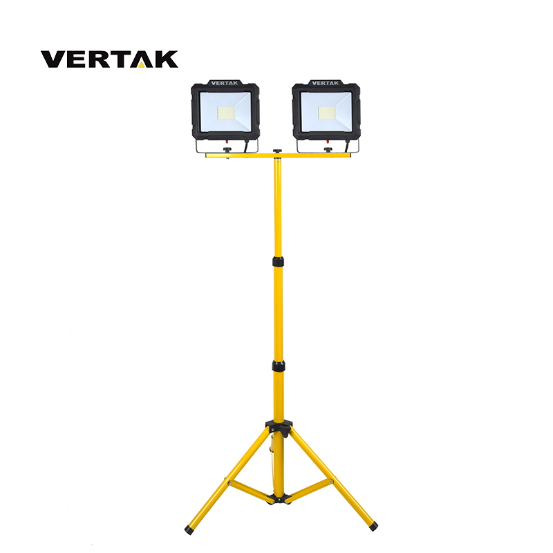 VERTAK Outdoor Super Bright Rechargeable 100W LED Tripod Work Light