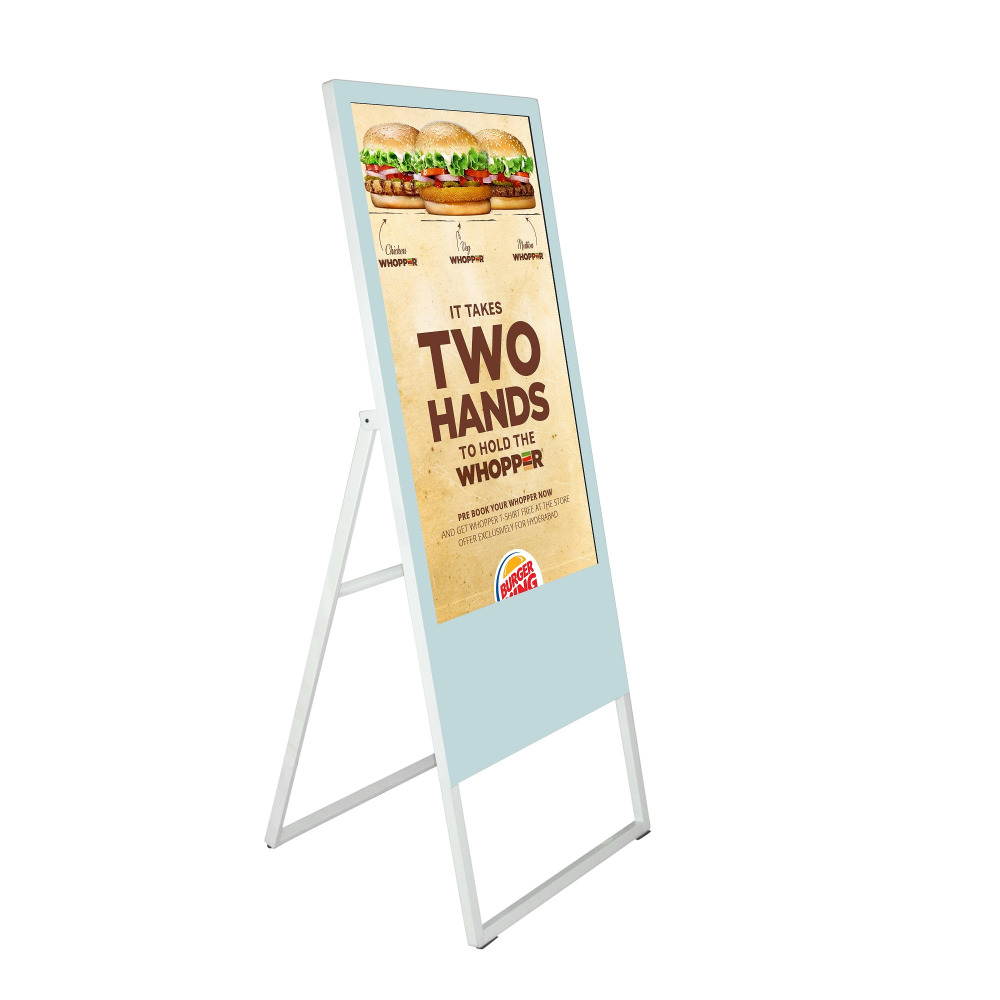 Adaptable 43inch Indoor Floor Standing Foldable Lcd Digital Signage Advertising Display Screen For Shop/retail Store Excellent Quality In