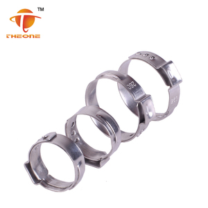 low price stainless stain single ear hose clamps