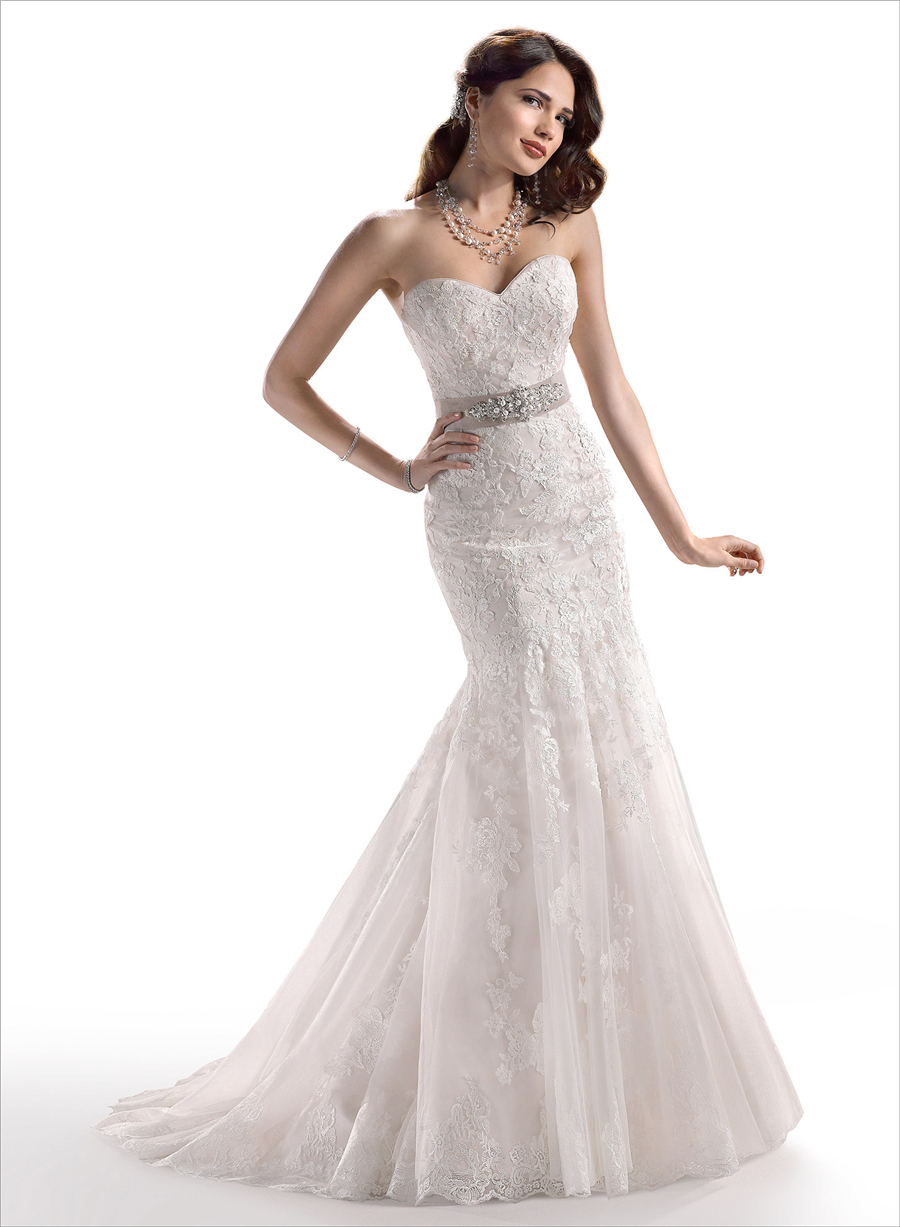Romantic mermaid crystal sashes wedding dresses 2015 cheap sweetheart ivory/white formal bride dress robe de mariage 108
