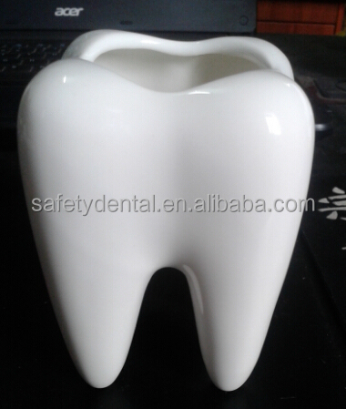 High Quality White Ceramic Tooth Shape Flower Vase Unique Dental ...